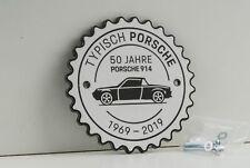 Porsche 914 Badge 50 Jahre 1969 - 2019 Grill Plakette weiss Sonderedition Museum