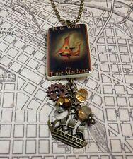 Time Machine HG Wells Classic Book Necklace Jewelry HANDMADE Librarian Teacher