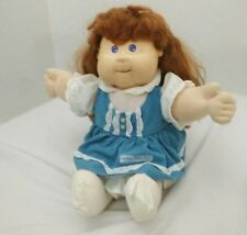 Cabbage Patch Talking Girl Doll Red Hair Blue Eyes Vintage 1987