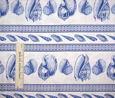 "Ocean Sea Shell Nautical Stripe Cotton Fabric Timeless Treasures C9667 31"""