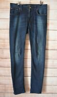 Nudie Jeans Size 31 Blue Zip Front Length Straight Tapered 32
