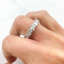 2.64 CT 18K White Gold Natural Pear Cut Tear Drop Diamond Eternity Ring Band
