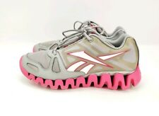 REEBOK Zigtech Grey pink women's Size 7 Running Training  athletic Shoes