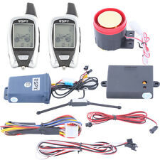 Universal SPY 5000m 2 way motorcycle alarm system with remote arm shock warning