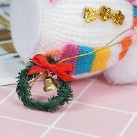 1:12 Dollhouse Miniature Mini Christmas Decoration Wreath With Bell Xmas.