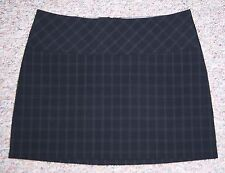 EXPRESS Black Plaid Short A-Line Mini Dress Skirt Fully Lined No Slits Size 6