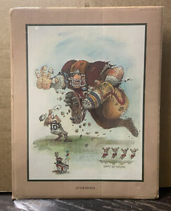 """Vintage 1980 Gary Patterson """"Up The Middle""""  Football Print"""