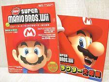 New SUPER MARIO BROS. Wii Guide w/Sticker Booklet & Calendar Book EB94*