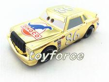 Mattel Disney Pixar Cars Metallic Finish Golden Chrome Chick Hicks No.86 Toy Car