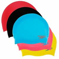 Speedo Junior Moulded Silicone Childrens Kids Cap Swimming Pool Hat Age 6-14