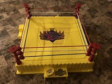 WWF/WWE Hasbro 1993 Yellow Wrestling Ring Refurbished Mint! KOTR WCW LJN Mattel
