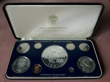 1981 Republic of Panama 9 coin proof set silver
