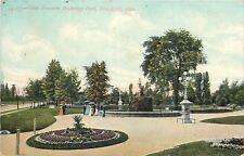Toledo Ohio~Victorian Ladies~Obitz Fountain Walbridge Park~1910 Postcard