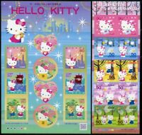 Japan 2009 Hello Kitty Comics Cartoons Zeichentrickfigur 4976-86 Kleinbogen MNH