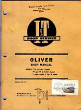 I&T Shop Manual O-7 Oliver Tractors 99 Super 99  Super 99GM meac23
