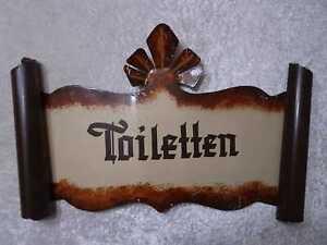 """Blechschild """"Toiletten"""" - Vintage - Antik-Stil - Restaurant / Bar / Wirtshaus"""