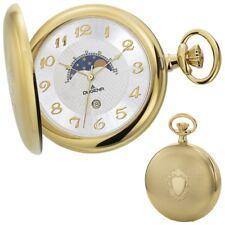 DUGENA 4460306 Taschenuhr Savonette mit Kette Uhr Herrenuhr Metall Analog silber