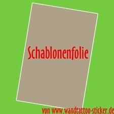 5x Schablonenfolie DIN A4, Wandtattoo Schablone selber machen-Aufkleber Airbrush