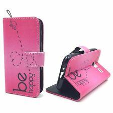 Schutz Hülle für Samsung Galaxy J1 Mini Be Happy Pink Tasche Case + 1 Panzer Sch