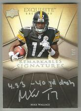 Mike Wallace 2009 EXQUISITE INSCRIPTION ROOKIE AUTO /5 SIGNED Steelers Eagles RC