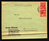 Germany 1948 Mixed Franking Cover / Left Side Tear / Bottom Fold - Z14747