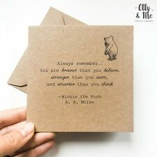 Winnie the Pooh Inspirational/Positivity Quote Card Friend Birthday/Miss You