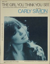 Carly Simon - The Girl You Think You See 1971 Sheet Music