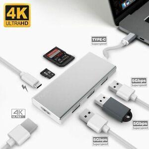 ZAOYI 7 in 1 USB C Hub, USB C to HDMI/SD&TF Card Reader/USB 3.0/PD Charging, UK