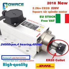 【IT】Square 2.2KW ER20 220V Air Cooled Spindle Motor 6A 24000rpm for CNC Router