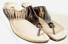 Mephisto NEW Agacia Striped Patent Leather Thong Slide EU 42 Women's US 11.5