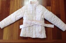 Justice Girls Size 10 Small Winter Coat Jacket Pink with belt