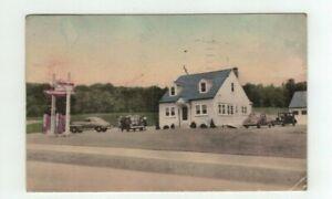 PA Coatesville Penn 1944 post card - Atlantic Gasoline Station & Restaurant