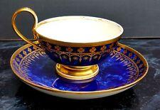 SEVRES TASSE EMPIRE MARBRE BLEU NUIT EN PORCELAINE DATE 1815 CUP PORCELAIN