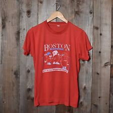 Vintage 80s Boston Beans thin funny red red sox screen stars small t-shirt