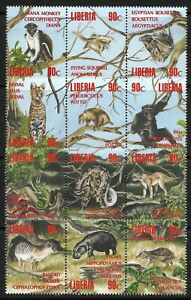 STAMPS-LIBERIA. 1993. Wildlife Set. Michel: 1564/75. Mint Never Hinged.