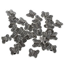 30pcs Tibetan Silver Butterfly Spacer Charm Beads 10mm ~~