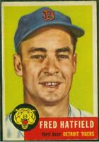 1953 Topps, Card #163, Fred Hatfield, Detroit Tigers