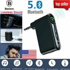 Baseus Bluetooth 5.0 Audio Music Receiver Wireless 3.5mm AUX Home Car Adapter US