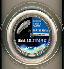 YONEX BG66 ULTIMAX 200M COIL BADMINTON STRING WHITE COLOUR