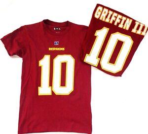 Washington Redskins Robert Griffin III Short Sleeve Shirt Burgundy *Imperfect*
