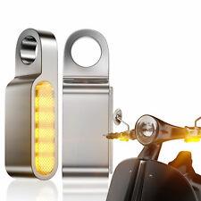 2pcs 12V Motorrad 6 LED Blinker Blinkleuchte Lenkerarmatur Bernstein Für Honda