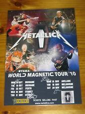 METALLICA - SIGNED AUTOGRAPHED 2010 Australia Tour Poster - Laminated