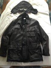 Cp Company Mille Miglia Goggle Leather Jacket