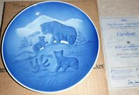 Bing & Grondahl 1985 MOTHERS DAY PLATE Bear With Cubs Mors Dag Porcelain