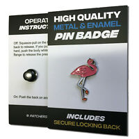 Flamingo High Quality Metal & Enamel Pin Badge with Secure Locking Back