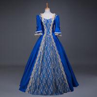Vintage Renaissance Marie Antoinette Cosplay Costume Rococo Baroque Court Dress