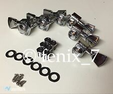RARE | OEM Grover Gibson Les Paul Standard Deluxe Locking Tuners Keystone CHROME