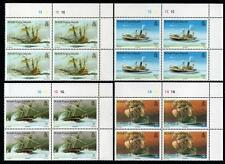 British Virgin Isles 1987 MNH SHIPWRECKS CORNER BLOCK SET