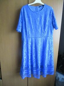VERY ladies mid blue short sleeve lace dress size 20