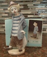 "Lladro 7602 ""Little Traveler"" clown holding knapsack Collectors Soc - Mib,Rv$775"